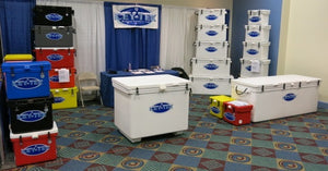 600 Quart - Icey-Tek Cooler / Large Ice Chest (Long Box w/Flat Bottom)