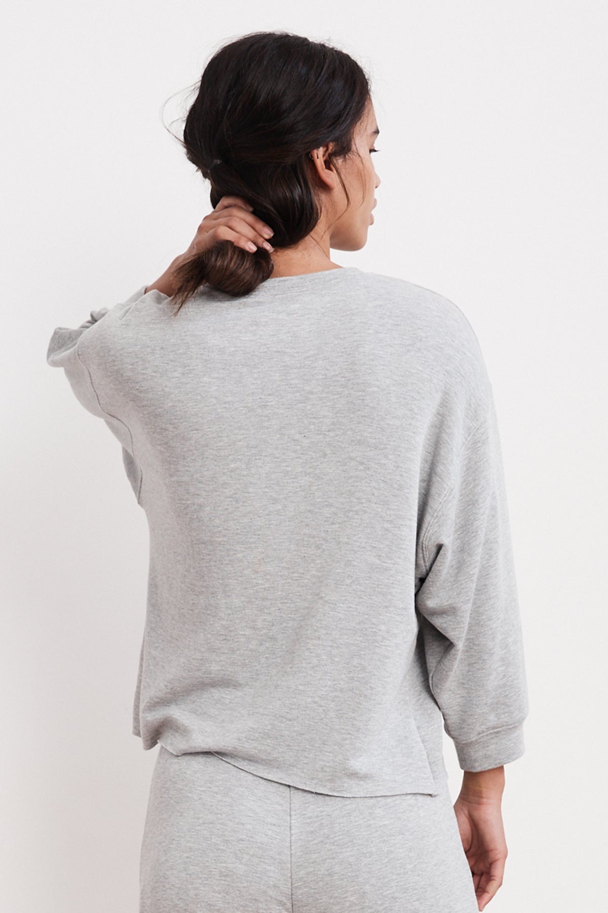 ANELLY HEATHER LUXE FLEECE PULLOVER