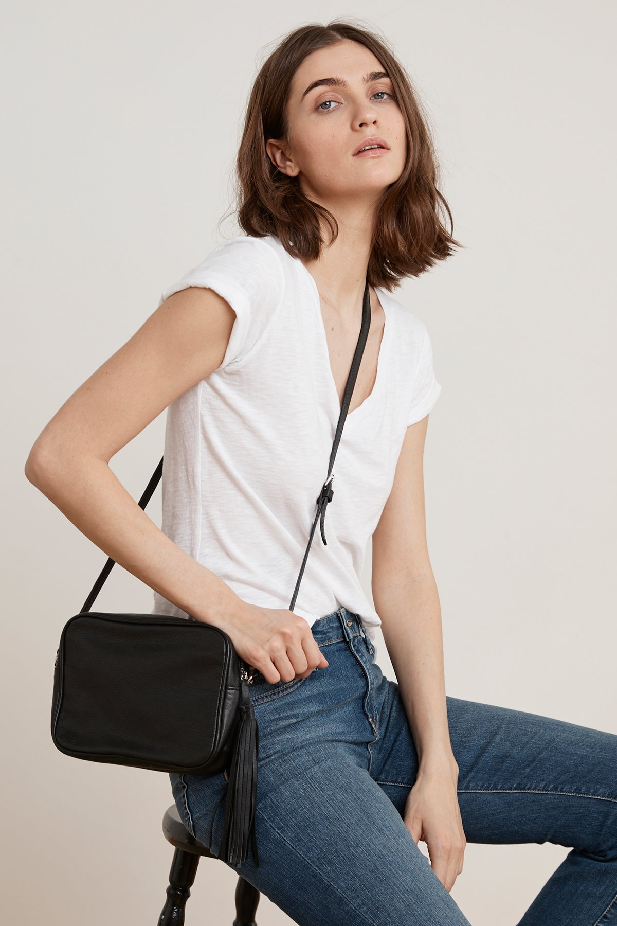 ZORA LEATHER TASSEL CROSSBODY