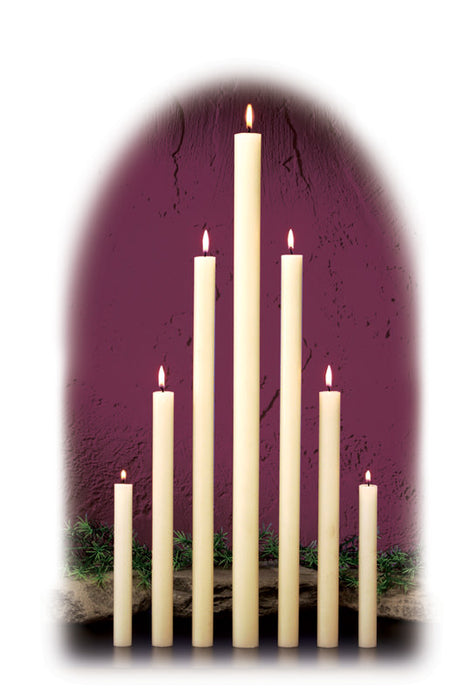 1 1/4 INCH  ALTAR CANDLES - 100% BEESWAX