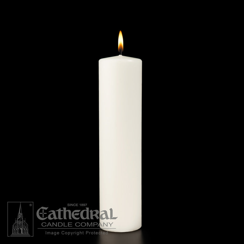 1-1/2 INCH  DIAMETER ALTAR CANDLES - STEARINE WAX