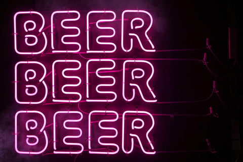 """Beer Beer Beer lit up sign"""
