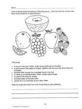 Nutrition learning software for children
