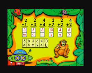 Fun with Addition & Subtraction maths learning game on computer
