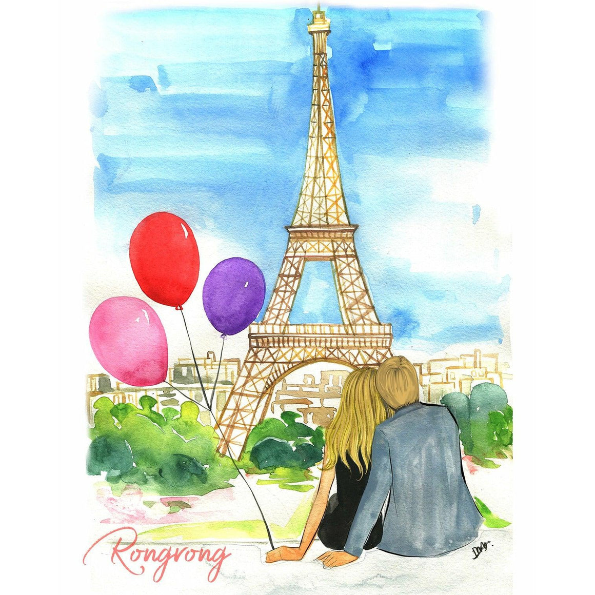 Take Me to Paris Art Print - Blonde