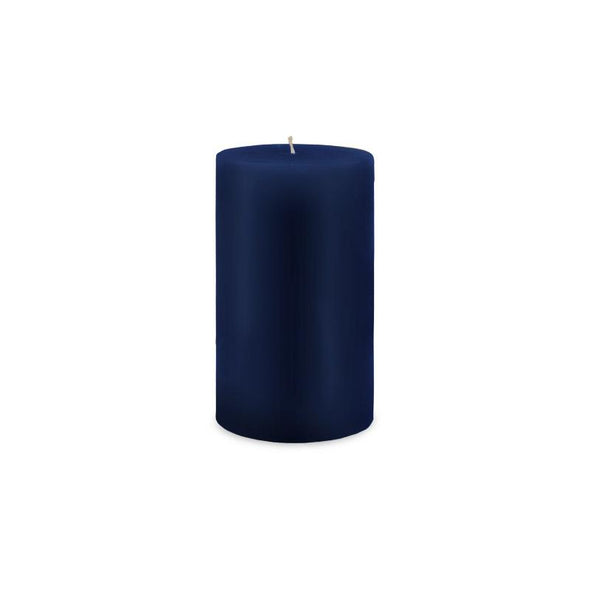"Classic Pillar Candle 3"" x 6"" - Navy Blue"