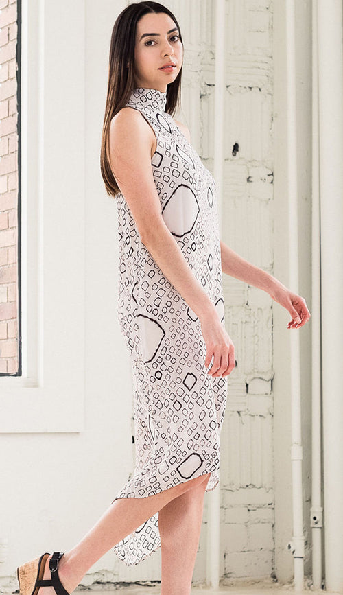 bandhani dress by laura siegel side view
