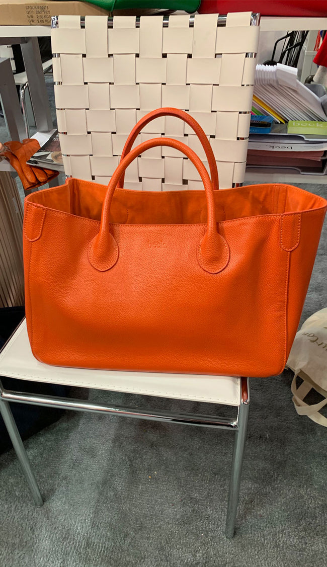 marie orange beck tote bag small lifestyle