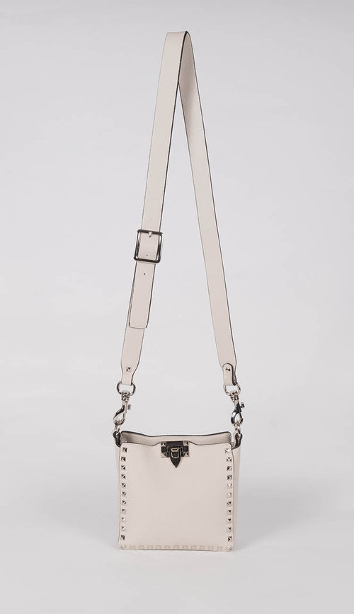 Light Beige Studded Crossbody Bag