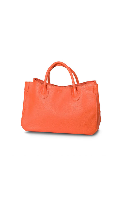 marie orange beck tote back - small