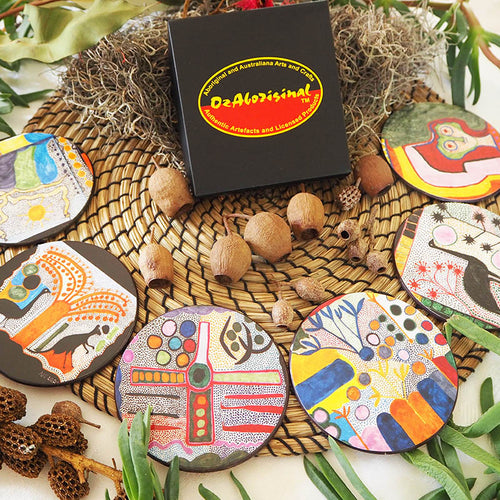 Authentic Aboriginal Coasters - Indigenart