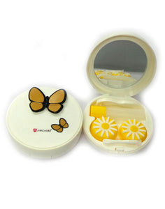 BUTTERFLY EFFECT - Designer Contact Lens Cases - A8063A-YL - ARCADIO LIFESTYLE