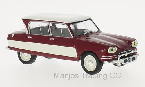 WB155 - 1961 CITROEN AMI 6 RED/WHITE