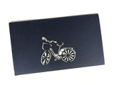 blue bike 3d pop up sport card