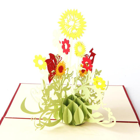 sunflower 3d pop up flower card