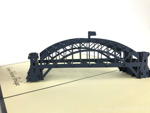 sydney harbour 3d pop up australia monument card