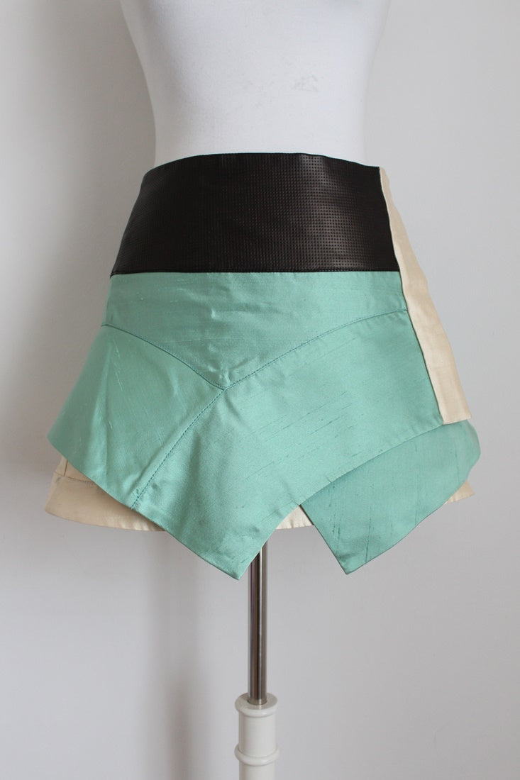 PROENZA SCHOULER SILK LEATHER SKIRT - SIZE 6