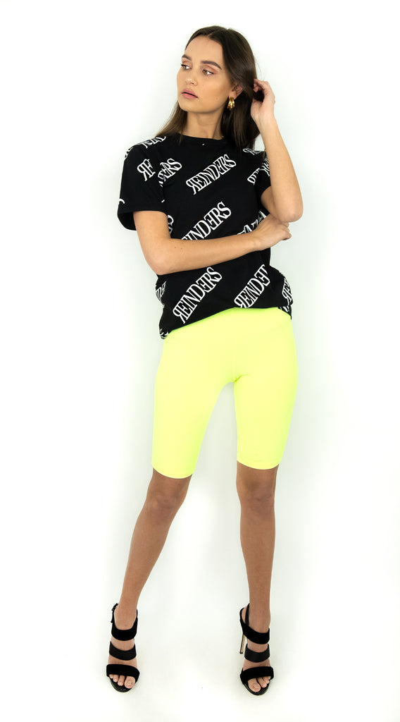 Biker Short - Neon Yellow