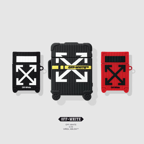 Off White Suitcase Airpod Rubber Case - Krispy Soles