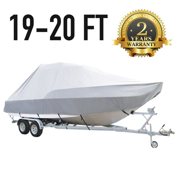 19 FT - 20 FT : Jumbo T-Top Boat Cover : 2 Year Warranty