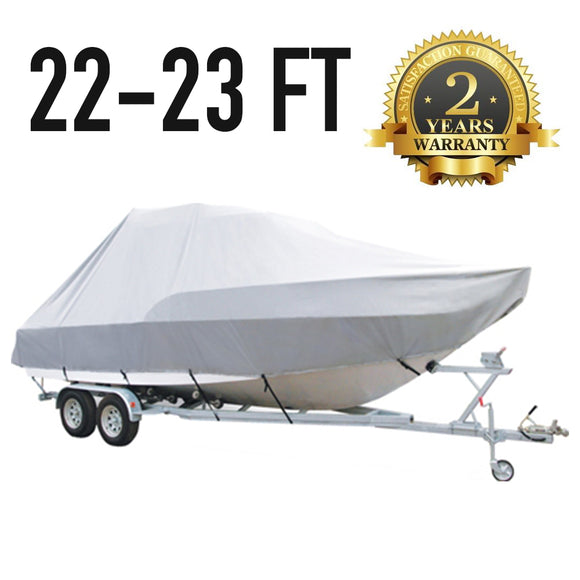 22 FT - 23 FT : Jumbo T-Top Boat Cover : 2 Year Warranty