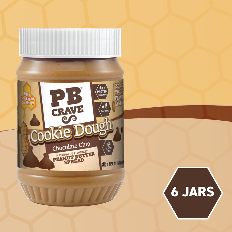 PB Crave Jars - 6 Pack Chocolate Chip Cookie Dough