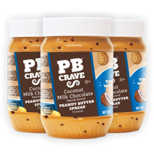 PB Crave Jars - 3 Pack Coconut Milk Chocolate