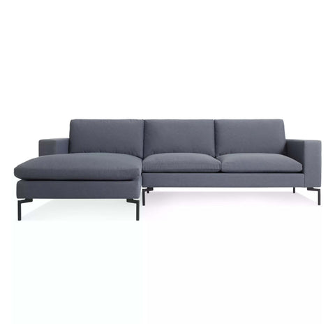 New Standard Sofa with Chaise in Nixon Blue