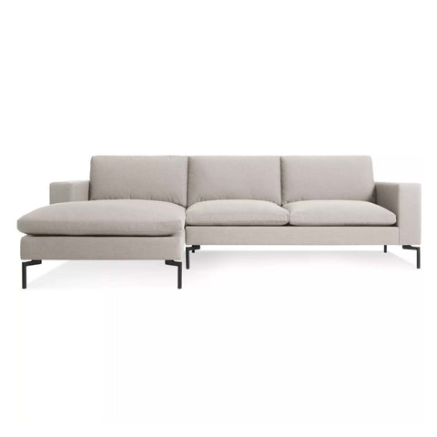 New Standard Sofa with Chaise in Nixon Sand