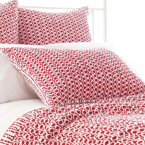 Tyler Red Quilted Sham