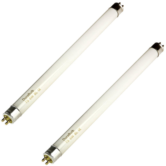 DuraBulb 2 x 6W Fly Killer Bulbs - Replacement Bulbs for 6W /12W Insect Zappers/Fly Killers - 9 Inch BL368 F6 T5 BL UV Tubes