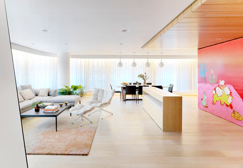 The Apartment of Perfect Brightness by ASAP/ Adam Sokol Architecture Practice Living Room
