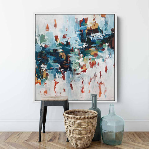 large original square abstract paintings