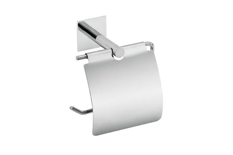 MODERN TRANSITIONAL EURO TOILET PAPER HOLDER WITH HOOD