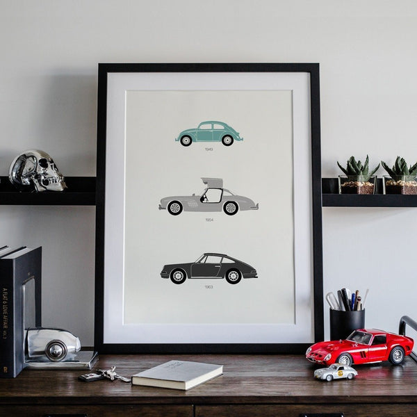 From the Alps to the Autobahn – German Framed Poster