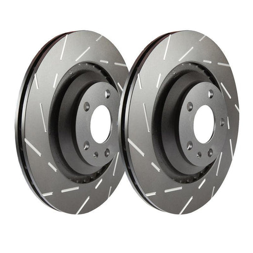 EBC Ultimax Grooved Front Brake Discs for Volkswagen Polo (6R)