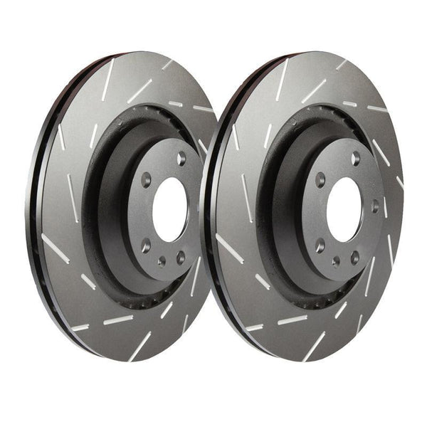 EBC Ultimax Grooved Front Brake Discs for Mitsubishi Lancer Evo 5
