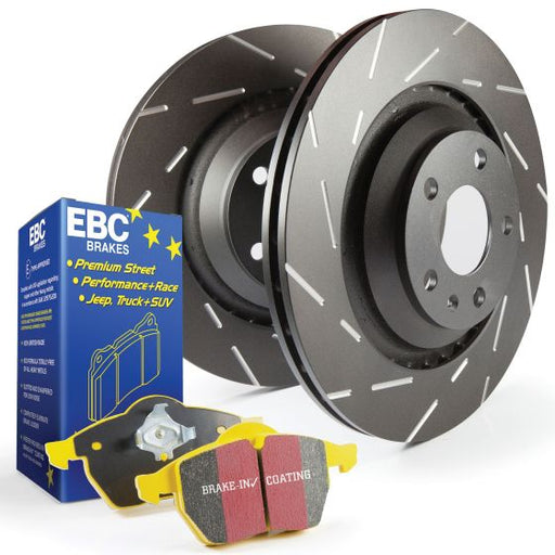 EBC Front Ultimax Brake Discs With Yellowstuff Pads For Volkswagen Polo (6R)