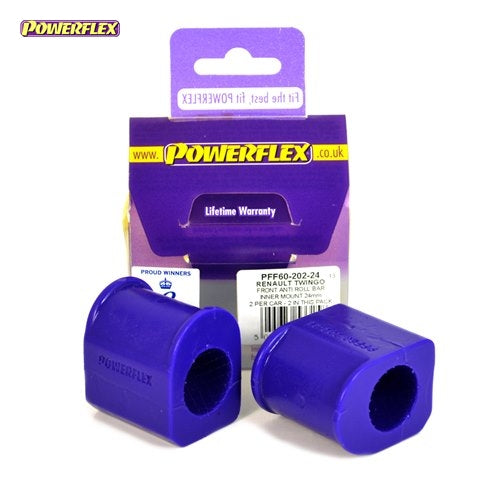 Powerflex Front Anti Roll Bar Chassis Mount Bush 24mm Kit for Renault Megane (MK1)