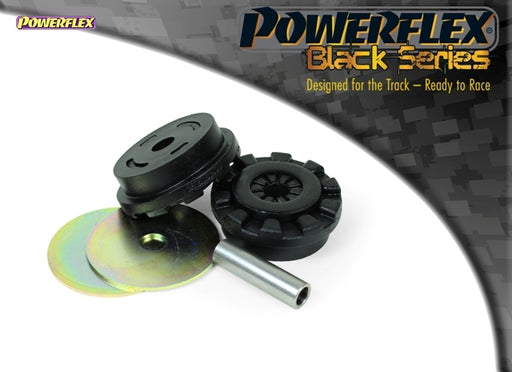 Powerflex Black Series Lower Engine Mount Large Bush 30mm Oval Bracket Kit for Ford Fiesta (MK6)
