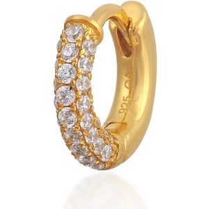 TRIPLE ROW PAVE YELLOW GOLD VERMEIL