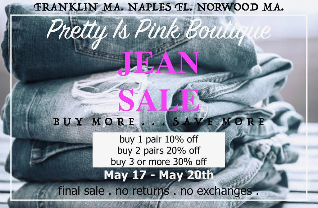 SALE SALE SALE!  Our denim is on sale!
