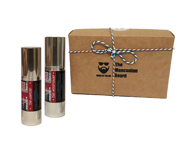 Classic Beard Oil Box Gift Set - Mancunian 2 x Beard Oil 30ml