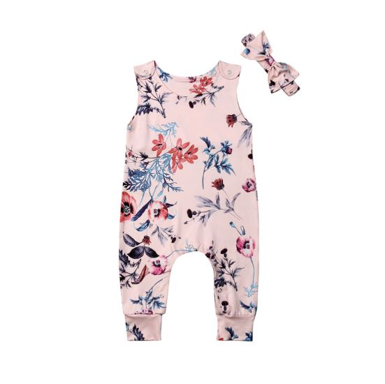 Pink Blossom Romper