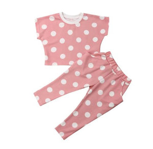 Pink n' Dots Cropped Top & Jogger set