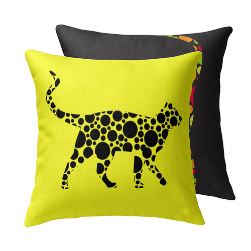 Polkakitty Throw Pillow