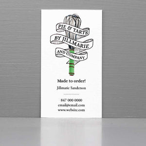 Business Card for Baker, Business Card with Whisk