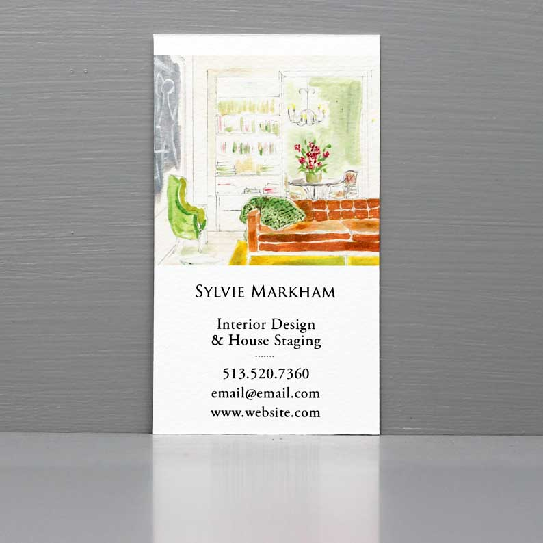 Interior Designer Business Card, Interior Scene, French Apartment