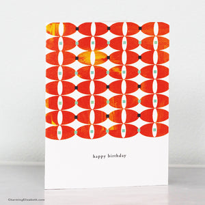 Modern Ovals Birthday Card