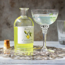 Personalized Limoncello Labels or Tags with Botanical Design